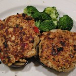 cooked Thai chicken burgers